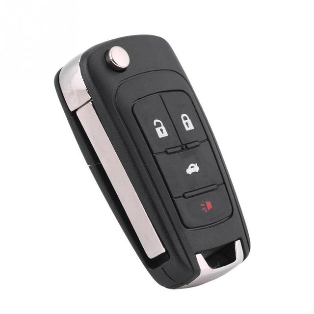 4 button entry car remote control key fob chip key for chevy buick