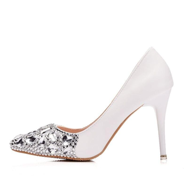 silver Nq169 Dedos Fiesta Ab Tacón Pies Zapato Cm Punto Vestido Damas Alto  Color Para De Cena Cristal Crystal Crystal Mujer Graduación 9 Zapatos Boda  ... e6f338b51d88