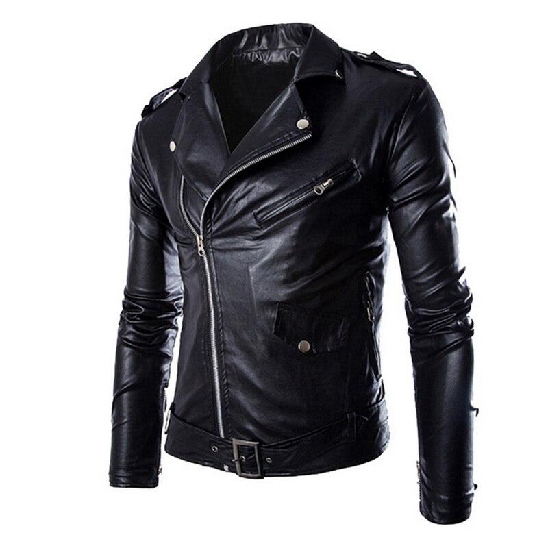 Chaqueta de cuero marca SHUJIN para hombre, otoño 2020, chaqueta de cuero de motocicleta informal con cremallera para hombre, abrigo delgado de invierno para hombre, de talla grande 4XL