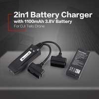 2in1 Multi Battery Charger Quick Charging Hub with Intelligent Flight Lipo Battery 1100mAh 3.8V For Original DJI Tello Drone