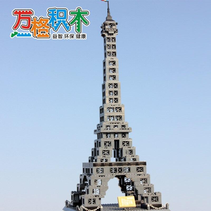 Famosa Arquitetura Da Série 978 pcs A Torre Eiffel 3D Tijolos de Blocos de Construção do Modelo Classic Toys Compatível com Legoed - 2