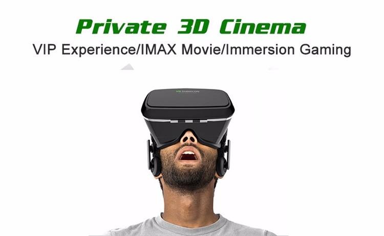 18 Original Shinecon VR Pro Virtual Reality 3D Glasses Headset VRBOX Head Mount Google Cardboard Helmet For Smartphone 4-6inch 9