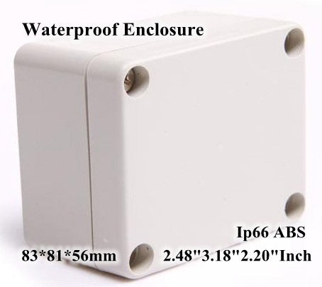 Abs Ip66 Waterproof Enclosure Electronic Plastic Box 83*81*56mm 2.483.182.20Inch Diy Junction Distribution Switch Outdoor Box 175 175 100mm ip67 abs electronic enclosure box distribution control network cabinet switch junction outlet case 175x175x100mm