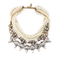 Layered Pearl Jewelry Maxi Necklace Choker Online Shopping Euro Pop Large Collares Bijouterie
