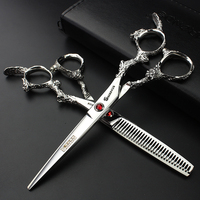professional hairdressing scissors 6 inch Hairdressing Scissors Set Salon  Stainless Steel Razor cut Haircuts barber Scissors