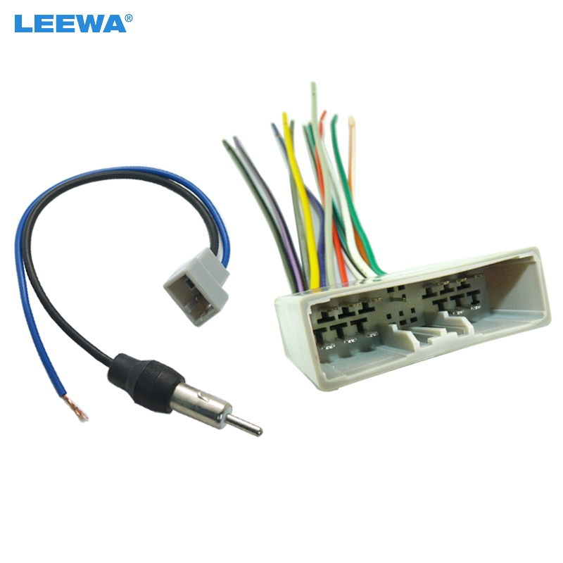Leewa Car Cd Player Radio Audio Stereo Wiring Harness Adapter Plug For Honda 06 08  Civic  Fit  Crv