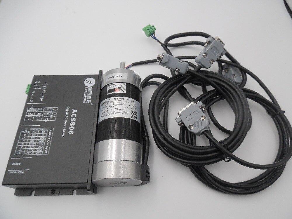 Leadshine 180 Вт DC бесщеточный Серводвигатель + Драйвер комплект 57BL180D 1000 + ACS806 круглый фланец 7A 0.57Nm 3000 RPM 20 ~ 80VDC Новый