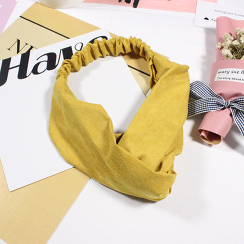 2018 New Women Spring Suede Soft Solid Headbands Vintage Cross Knot Elastic Hairbands Bandanas Girls Hair Bands Hair Accessories