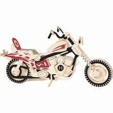 Simulation model 3D jigsaw puzzle dazzling cool motorcycle creative diy wood educational toy puzzles for kids