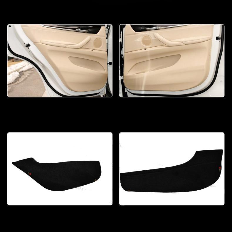 Ipoboo Savanini 4pcs Fabric Door Protection Mats Anti-kick Decorative Pads For BMW X5 2014-2015 ipoboo 4pcs fabric door protection mats anti kick decorative pads for hyundai elantra 2012 2015