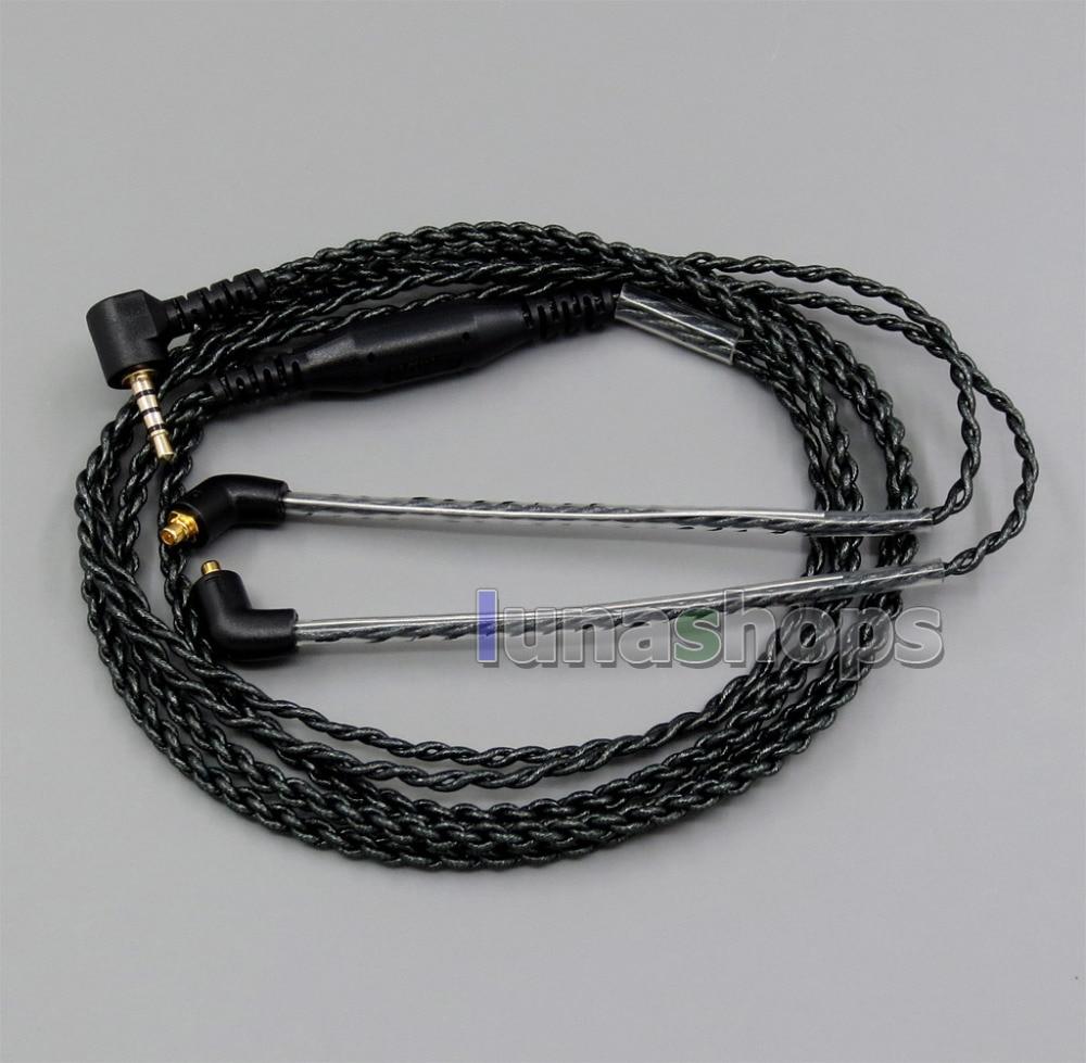 EachDIY 2.5mm TRRS Earphone Silver Plated OCC Foil PU L Plug Cable For Shure se215 se315 se425 se535 Se846 LN005650