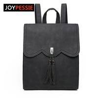 Joypessie Female PU Leather Women S Backpacks New Women Backpack Tassel Girls Bags Retro Lady Hot