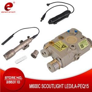 Image 1 - Element Airsoft PEQ 15 Tactical Flashlight Surefir M600  PEQ 15 Red IR Gun Laser Lantern For Hunting Lantern Weapon Light PEQ