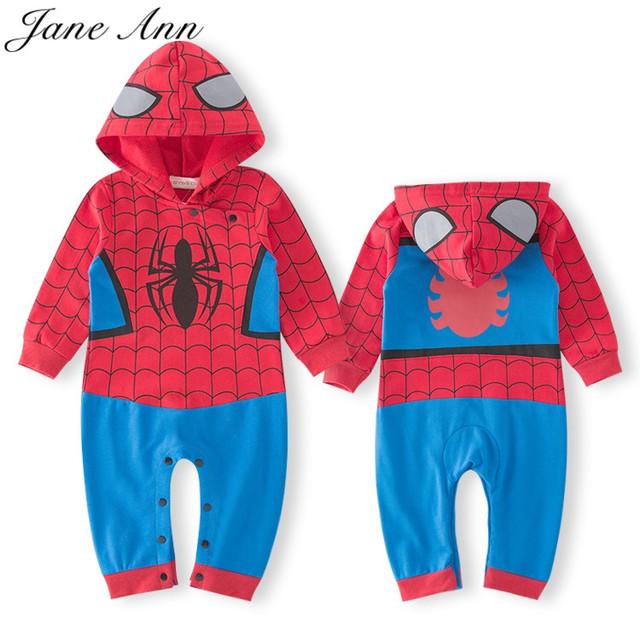 Menino de algodão azul de manga longa curta super hero spiderman batman romper infantil primavera azul outono purim roupas do dia das bruxas