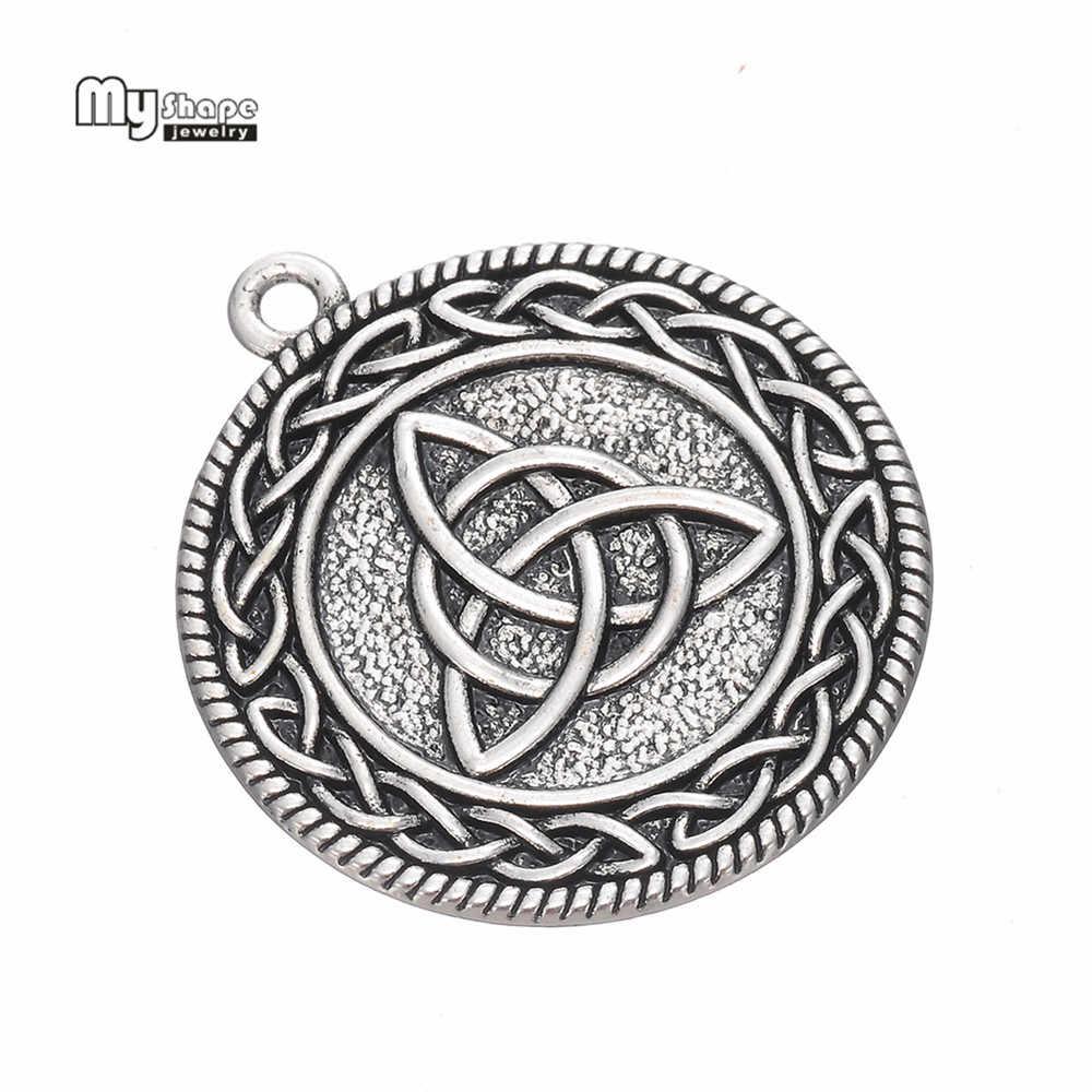 My Shape noeud irlandais amulette déclaration collier chaîne cercle trinité Talisman pendentif colliers femmes Chooker bijoux accessoires