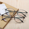 2017 vintage round metal frame glasses computer clear glasses women eye frame optical computer glasses Prescription eyewear 2608