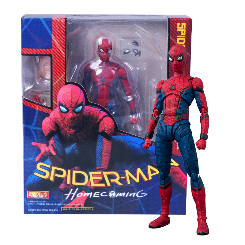 14cm Spider Man Homecoming The Spiderman Simple Style & Herioc Action PVC Action Figure Collectible Model Toy Spide-rman Toys