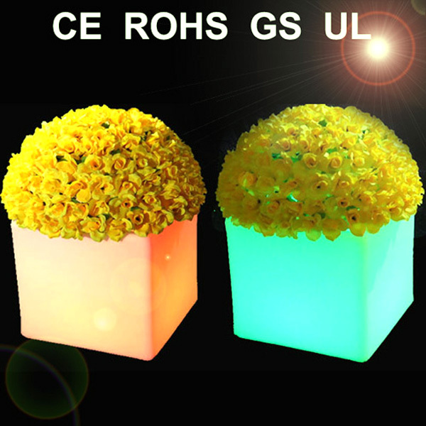 Square 16colours change control by remote  Cube LED Pot Planter for home or garden VC-F3838 кашпо cube planter m keter