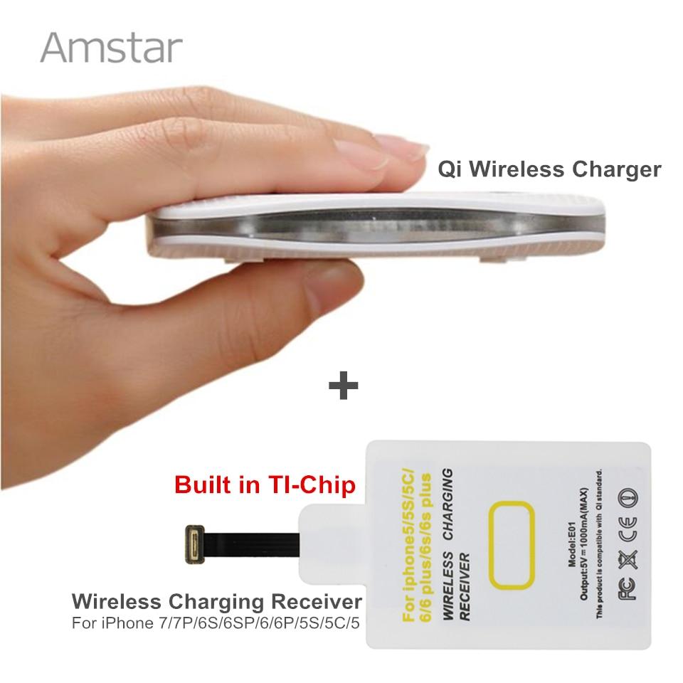 Amstar Qi Wireless Ladegerät Pad für Samsung Galaxy S8 S7 iPhone X - Handy-Zubehör und Ersatzteile