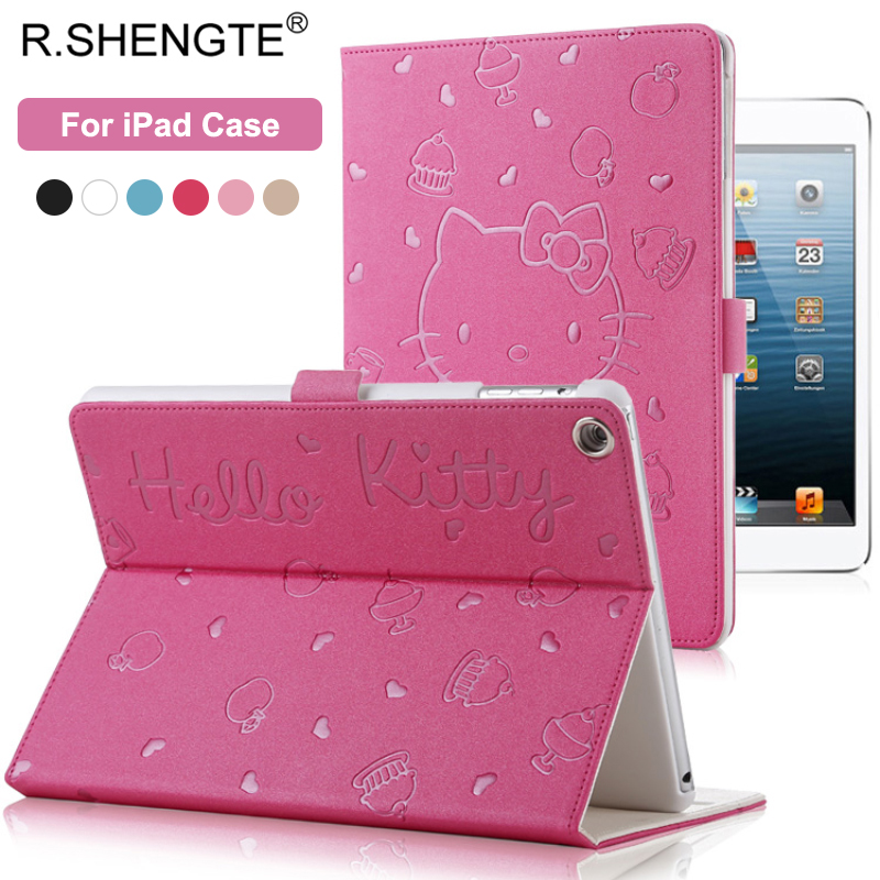 Hello Kitty Pattern Smart Case For iPad 2017 2018 9.7 New Tablet Stand Filp Case for iPad 2 3 4 5 6 Air 1 2 Mini 1 2 3 4 Cover