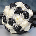 Ivory Balck Bridal Wedding Bouquet de mariage Pearls Bridesmaid Artificial Wedding Bouquets Flower Crystal buque de noiva 2017