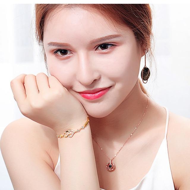 Популярные украшения браслет в виде сердца из циркония подарок