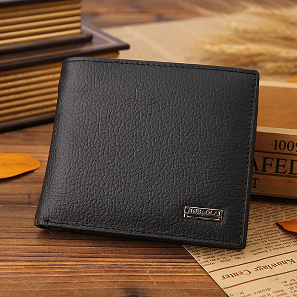 Vintage Men Wallet Leather Bifold Thin Wallets Credit ID Card Case Money Bag Coin Card Holder Slim Coin Purse Male Gift Fashion