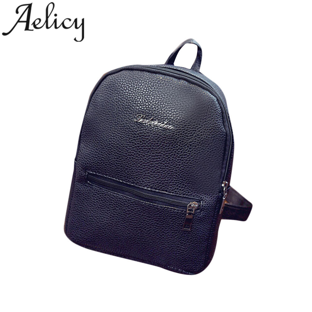 Aelicy Women Leather Backpacks Travel Backpack Satchel Women Shoulder Rucksack Female School Shoulder Bag for Teenage Girls клещи переставные jtc 10 jtc 342810