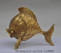 Crafts statue china fengshui brass copper fish lucky auspicious statue Sculpture Decorative