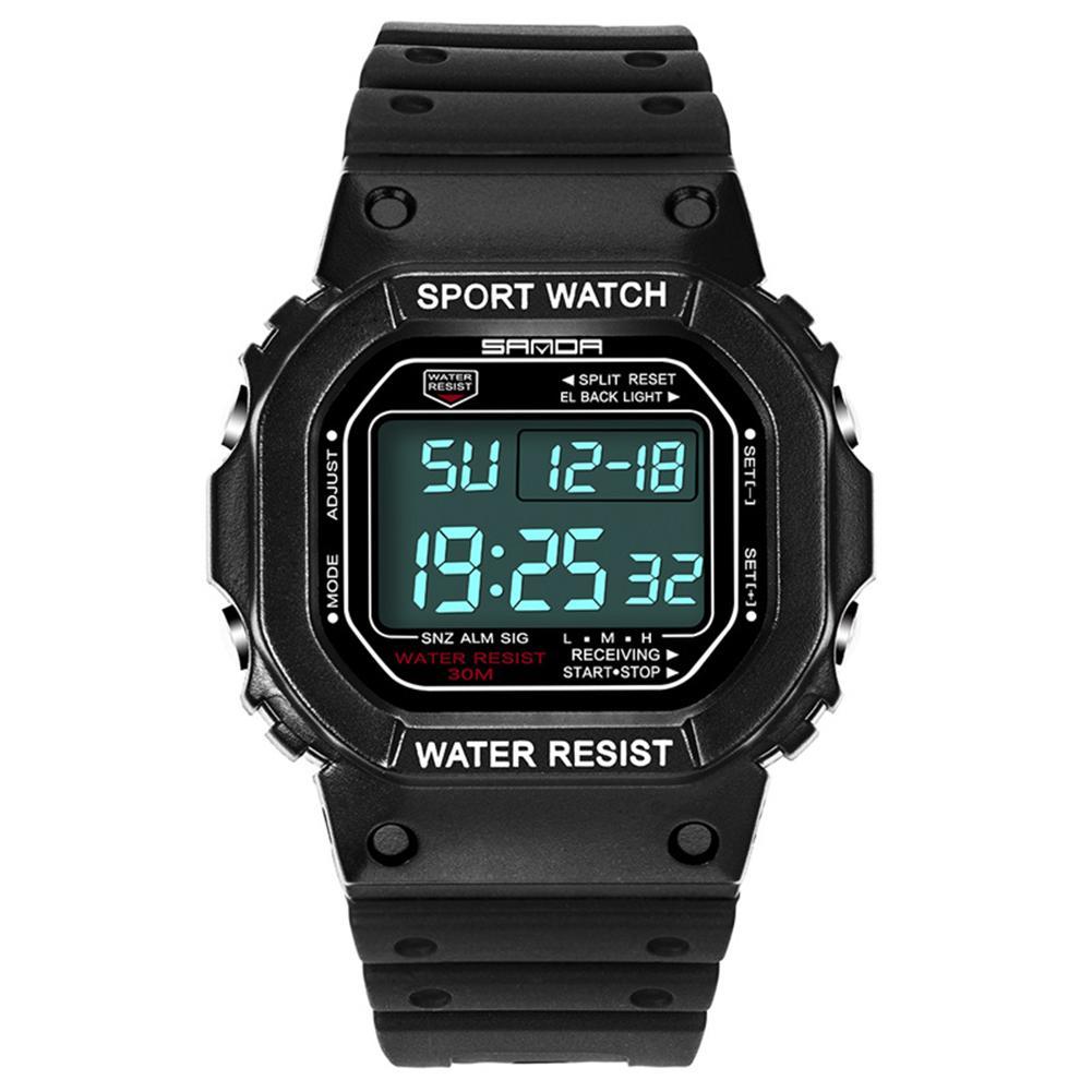 Fashion Unisex Waterproof Digital Display Alarm Luminous Electronics Sports Wrist Watch freestyle unisex 10019170 tide trainer digital display japanese quartz brown watch