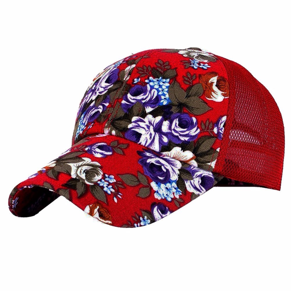 NEW Snapback Baseball Cap Floral Perforated Ball Caps Golf Hats Summer Mesh  Hat for Women Teens Girls-in Baseball Caps from Apparel Accessories on ... 50c9ab51abda
