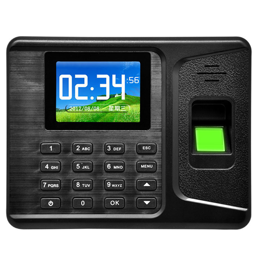 USB password biometric fingerprint scanner and card time attendance systems finger locker for access control system home/office 2 4 inch 500 user time attendance finger print password id card access control system
