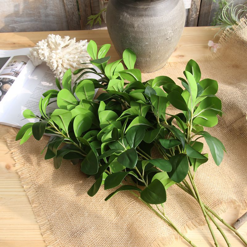 1PC Artificial Flower Simulation Milan Leaves Grass For Wedding Home Decoration DIY Wreath Scrapbooking Craft Fake Flowers