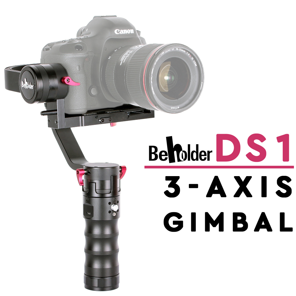 Beholder DS1 Stabilzier 3-Axis Handhled Gimbal DSLR Camera Holder Professional Steadycam afi 3 axis handhled gimbal stabilizer for 5d 6d 7d dslr as beholder ds1 ms1 mini dslr cameras