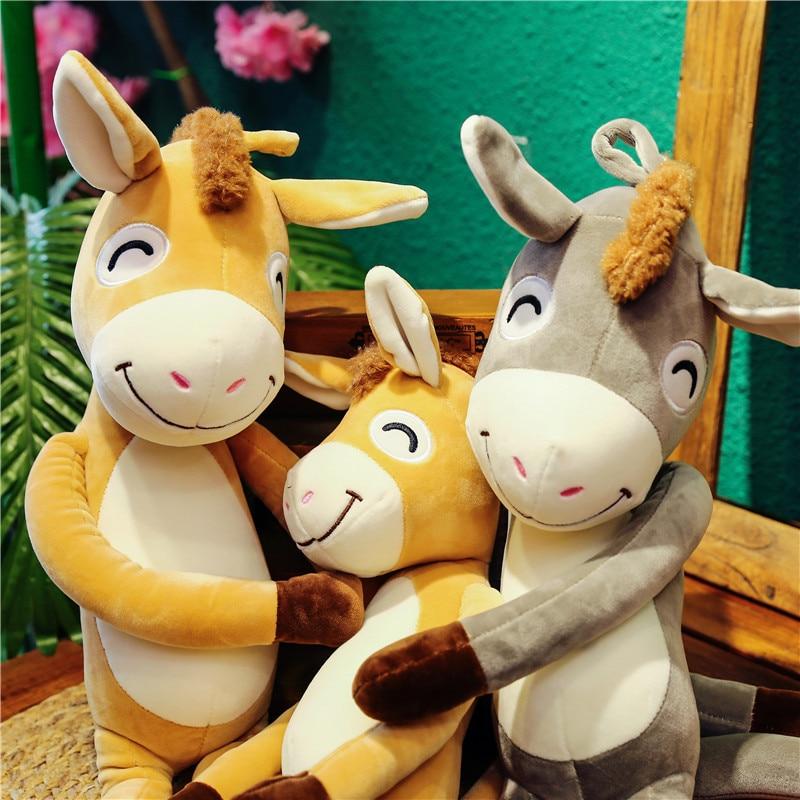 Plush Toy Cute Naughty Baby donkey Plaything Stuffed Animals Plush Doll Girls Children Gifts 1pc 80 90 120cm in Stuffed Plush Animals from Toys Hobbies