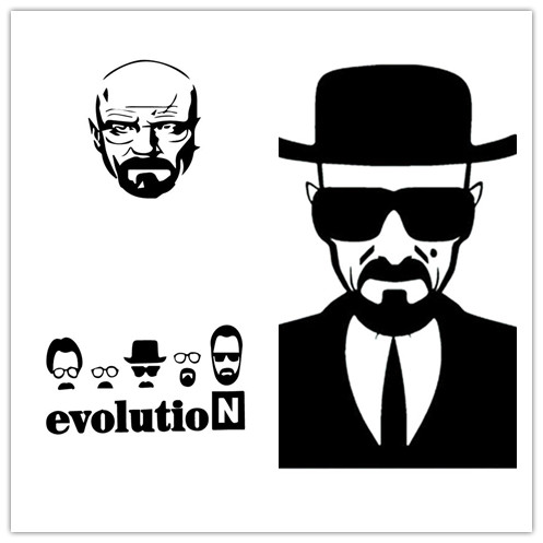 AWOO Breaking Bad Heisenberg Sticker Vinyl Decal for Apple ...