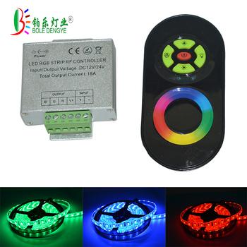 Kontroler LED RGB RGB kontroler RF bezprzewodowy RF panel dotykowy LED ściemniacz RGB pilot zdalnego sterowania dla 2835 5050 RGB taśma LED tanie i dobre opinie Ściemniacze ROHS 1year RF LED Controller RGB LED Strip Controller LED RF Controller RGB RF Remote BOLEDENGYE 432W 1W