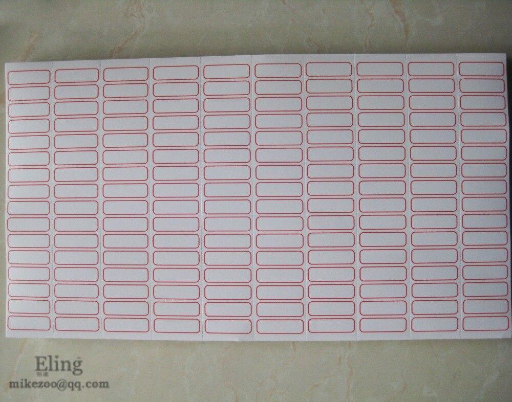 4800 шт 28x9 мм зеленый красный синий цвет пустой индекс лейблы-наклейки для различного использования, пункт № OF04