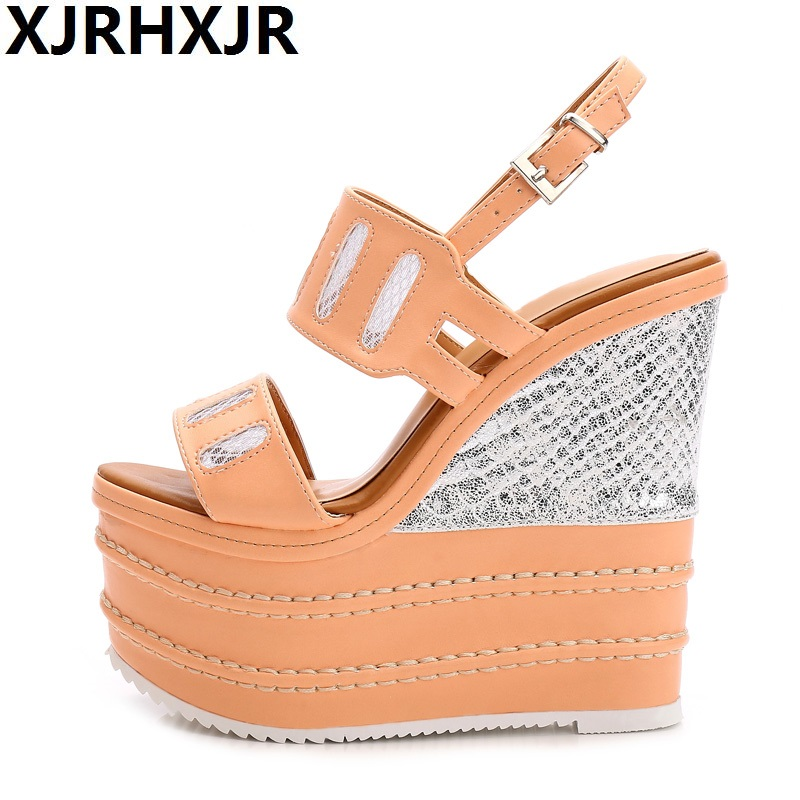 16cm Super High Heels Shoe Woman Summer Wedge Sandals Gladiator Ladiess Shoe Sexy Open Toe Strap Women Sandal16cm Super High Heels Shoe Woman Summer Wedge Sandals Gladiator Ladiess Shoe Sexy Open Toe Strap Women Sandal
