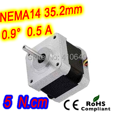 где купить  10 pieces per lot FREE SHIPPING stepper motor 14HM08-0504S Nema14 with 0.9 deg 0.5 A  5 N.cm with bipolar and 4 lead wires  по лучшей цене