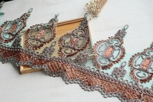 5 color Lace Trim High Quality Wedding Lace Trim Embroidered Retro Lace Bridal 12.21'' Wide 1 yard