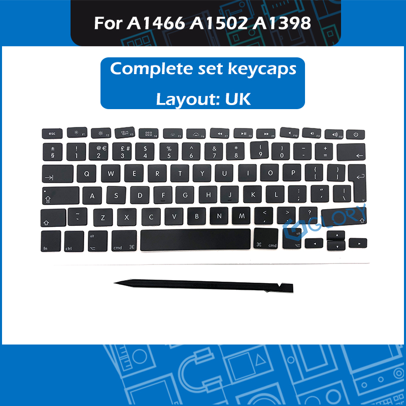 New AP11 Keycap Set UK French Spanish Russian German Portugues Swiss Hungarian For Macbook Air Pro Retina A1466 A1502 A1398