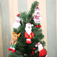 1PC Christmas Santa Claus Snowman Elk Doll Toy Christmas Tree Hanging Ornaments Decoration for Home Xmas Party New Year Gift