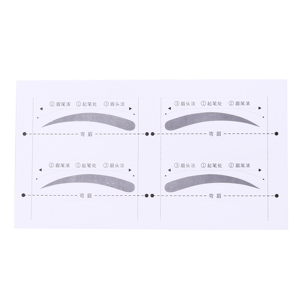 4pcs Eyebrow Stencils Beauty Makeup Artifact Header Card Repair Brow DIY Make Up Eyebrow Drawing Guide Card Brow Template Tools