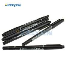 5Pcs שחור CCL אנטי תחריט PCB המעגלים דיו סמן כפול עט עבור DIY PCB תיקון CCL מודפס מעגל תרשים