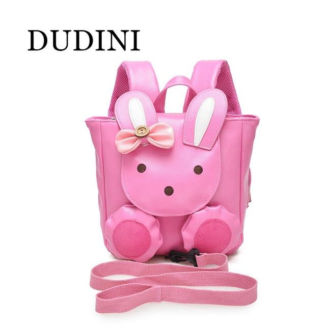 DUDINI Милый Творческий Искусственная Кожа Кролик Анти-Потерянный Мешок детский Рюкзак Дети 1-3 Лет Ребенок мешки