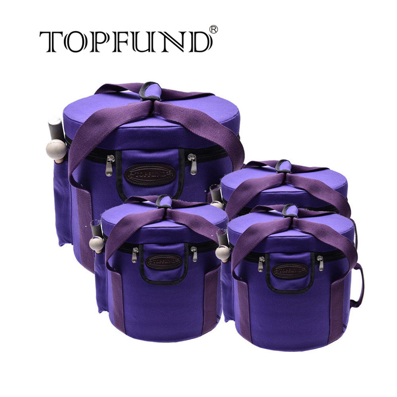 TOPFUND Three 10 and One 12 Case for Set of 7 Frosted Crystal Singing Bowls 8''-12 topfund perfect pitch tuned chakra set of 7pcs colored frosted crystal singing bowls all 10