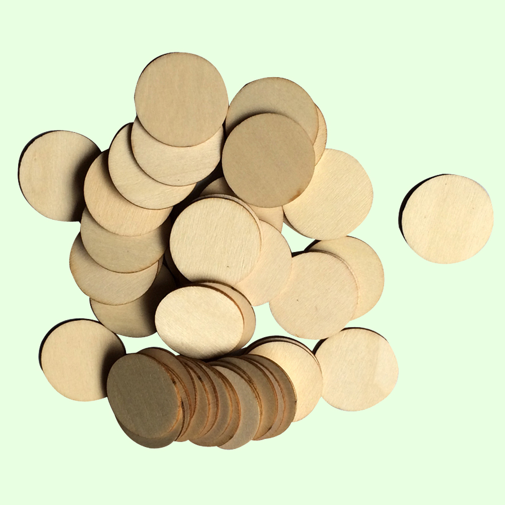 100x Wooden Tags Pieces For Party Wedding Embellishments Cardmaking Scrapbooking