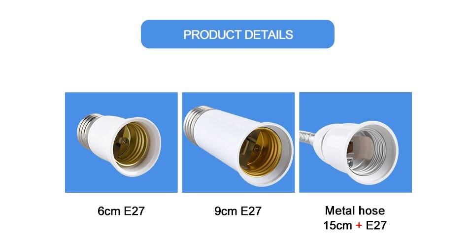 Extend Base LED Light Lamp Adapter Converter Socket  (5)