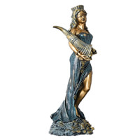 33.5/60.5cm God of Wealth and Money Statue Art Greek God's Power Managing Born Wishes Fiscal Valuables Goddess Best Gift R1400
